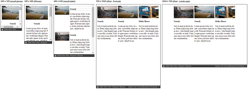 Responsive Patterns - Layout - 3 Columns Content Reflow