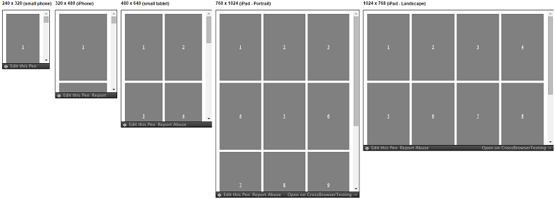 Responsive Patterns - 4-Up Grid Block