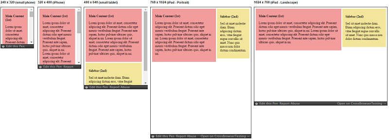 Responsive Patterns - Layout - Main Column with Sidebar