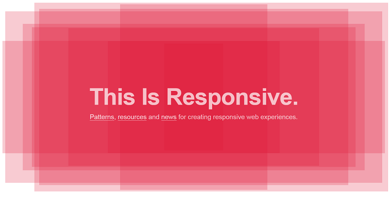 Responsive Patterns - Layout