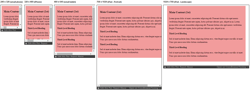 Responsive Patterns - Layout - Tiny Tweaks