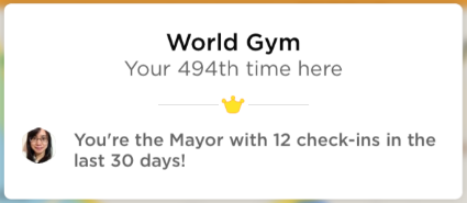 WorldGym Checkins